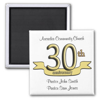 30th Anniversary Party Favors 2 Inch Square Magnet