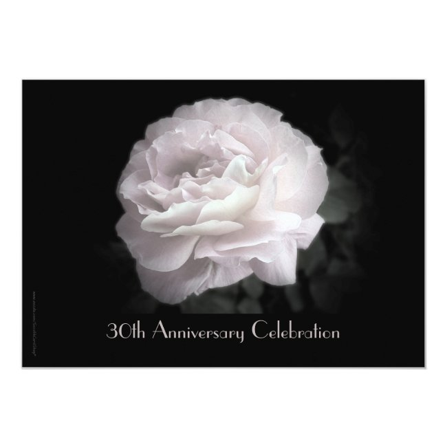 30th Anniversary Party Invitation Pale Pink Rose