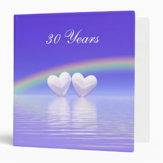 30th Anniversary Pearl Hearts 3 Ring Binder