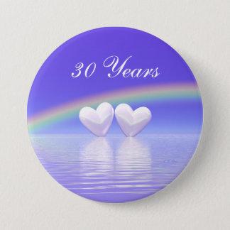 30th Anniversary Pearl Hearts Button