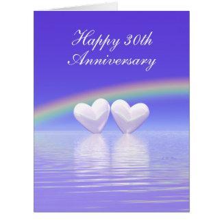 30th Anniversary Pearl Hearts Card