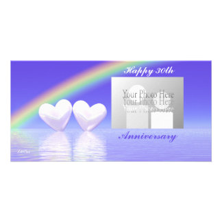 30th Anniversary Pearl Hearts Card