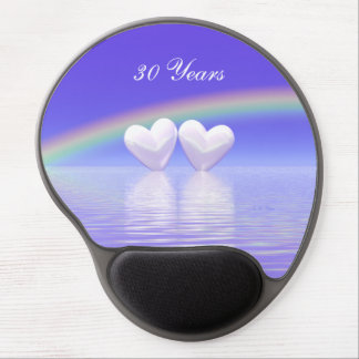 30th Anniversary Pearl Hearts Gel Mouse Pad