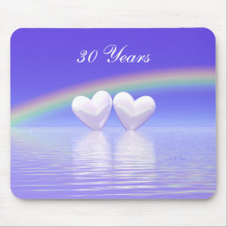30th Anniversary Pearl Hearts Mouse Pad