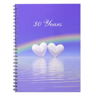 30th Anniversary Pearl Hearts Spiral Note Books