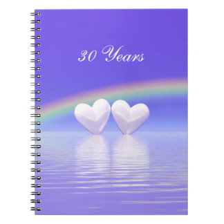 30th Anniversary Pearl Hearts Spiral Notebook