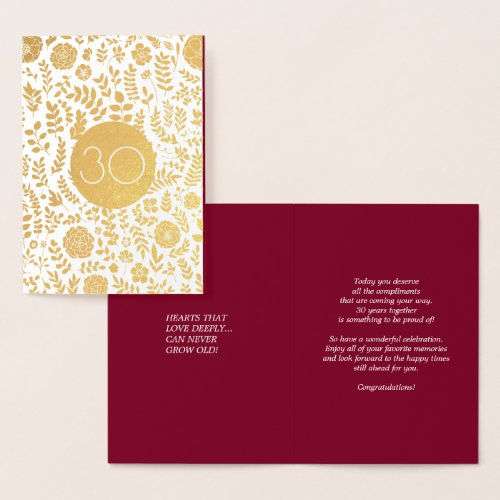 30th Anniversary Real Foil Luxury Cards