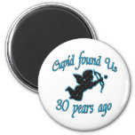 30th. Anniversary Refrigerator Magnets