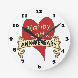 30th. Anniversary Round Clock