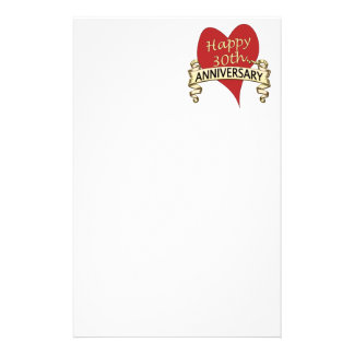 30th. Anniversary Stationery Paper