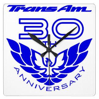 30th anniversary trans am clock