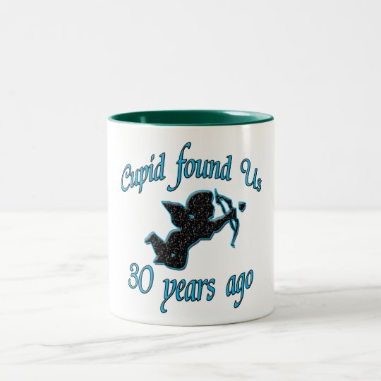 30th. Anniversary Two-Tone Coffee Mug
