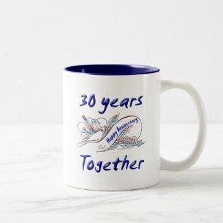 30th. Anniversary Two-Tone Coffee Mug