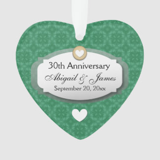 30th Anniversary Wedding Green Z08 Ornament