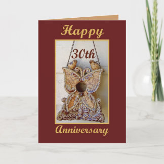 30th Anniversary with Love Birds Card