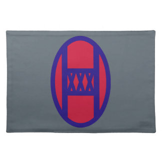 30th Armored Brigade Cloth Placemat