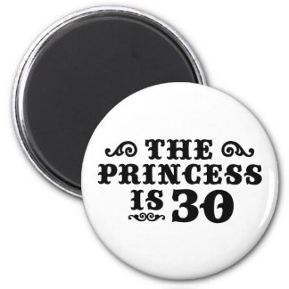 30th Birthday 2 Inch Round Magnet