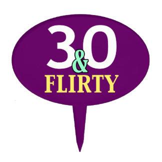 30th Birthday 30 and Flirty Cake Topper