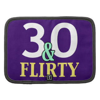 30th Birthday 30 and Flirty Folio Planners