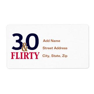 30th Birthday 30 and Flirty Label