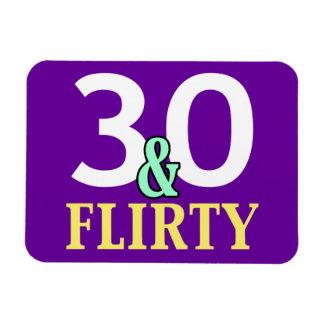 30th Birthday 30 and Flirty Magnet