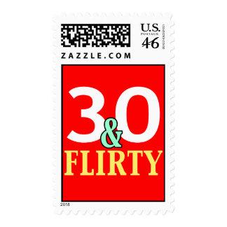 30th Birthday 30 and Flirty Stamp