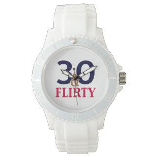 30th Birthday 30 and Flirty Wrist Watch