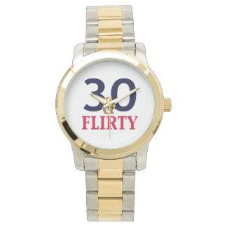 30th Birthday 30 and Flirty Wrist Watches