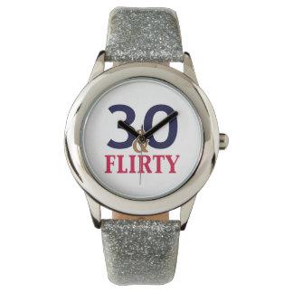 30th Birthday 30 and Flirty Wristwatches