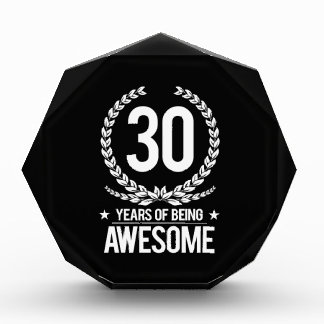 30th Birthday (30 Years Of Being Awesome) Award