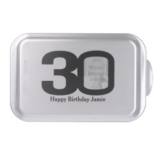 30th Birthday Add Your Own Photo Snap On Tin Cake Pan
