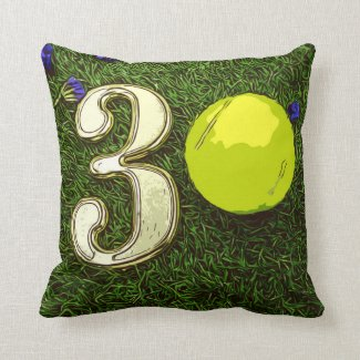 30th birthday anniversary Tennis Player Throw Pillow