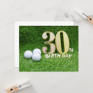 30th Birthday Anniversary to golfer
