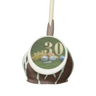 30th Birthday Anniversary to golfer with golf ball Cake Pops