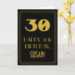 "[ Thumbnail: 30th Birthday – Art Deco Inspired Look ""30"" & Name Card ]"