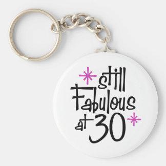 30th Birthday Basic Round Button Keychain