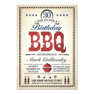 bbq 30th birthday invitations zazzle