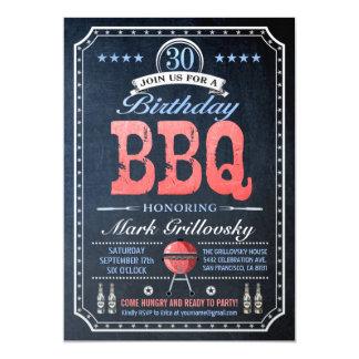 30th Birthday BBQ Invitations | Chalkboard