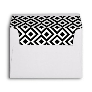 30th Birthday Black White Printed Return Address Envelope