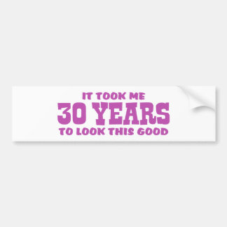 30th Birthday Bumper Sticker