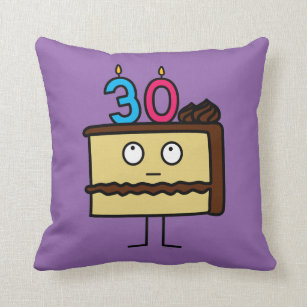 Superb Funny Birthday Cakes Decorative Throw Pillows Zazzle Funny Birthday Cards Online Bapapcheapnameinfo