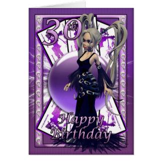 30th birthday car, happy 30th birthday goth doll card