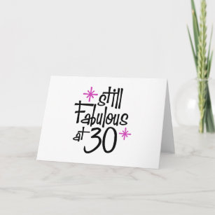 30 Years Old Girl Birthday Cards