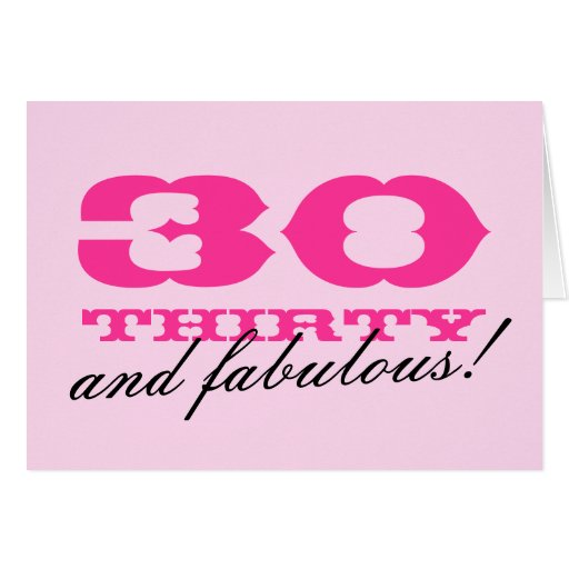 30th Birthday card for women | 30 and fabulous!