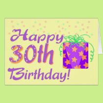 30th Birthday card template