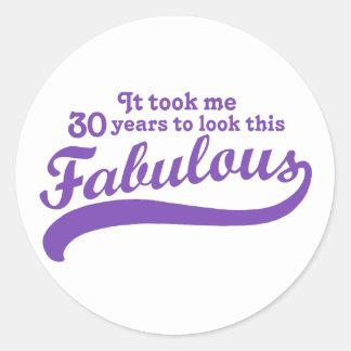 30th Birthday Classic Round Sticker