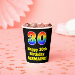 [ Thumbnail: 30th Birthday: Colorful, Fun, Exciting, Rainbow 30 ]