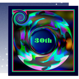 30th Birthday Colourful Art Card