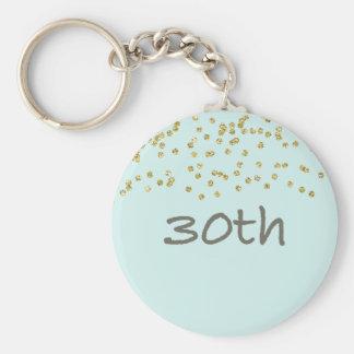 30th Birthday Confetti Keychain