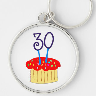 30th Birthday Cupcake Keychain